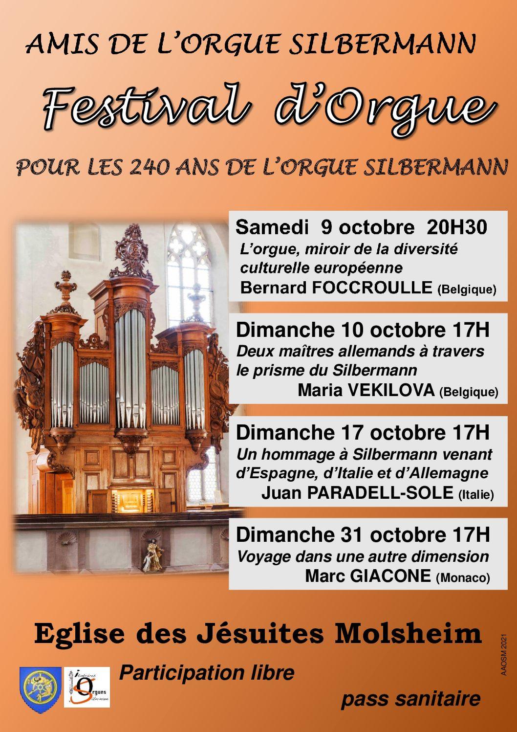 Concerts pour les 240 ans de l'orgue de Molsheim