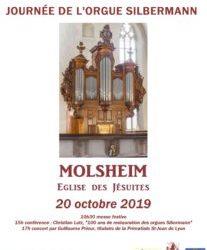 JOURNEE DE L'ORGUE SILBERMANN DE MOLSHEIM le 20 octobre